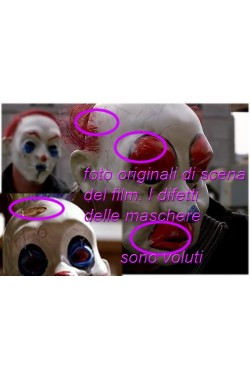 Gruppo sette maschere clown del Joker dal film Batman the Dark Knight