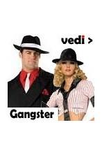 Vestiti cappelli bretelle mitra e pistole da gangster anni 20 o anni 30
