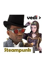 Abiti, Cappelli, Occhiali, Gadget steampunk fantascienza retro