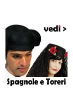 Costumi e cappelli da Spagnola, Flamenco, Torero