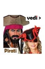 Costumi, cappelli, parrucche, armi, accessori per travestimenti e feste pirati