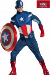 la foto mostra un costume cosplay di Capitan America