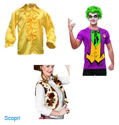 La foto mostra una maglia joker una camicia anni 70 ed un gilet cowgirl
