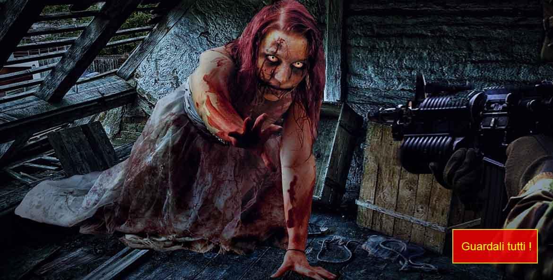 la foto mostra un bellissimo trucco zombie non morto