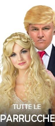 L'immagine mostra alcune parrucche di carnevale in vendita online