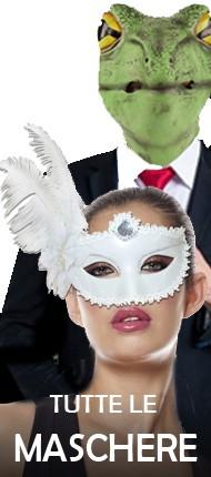 L'immagine mostra alcune maschere di carnevale